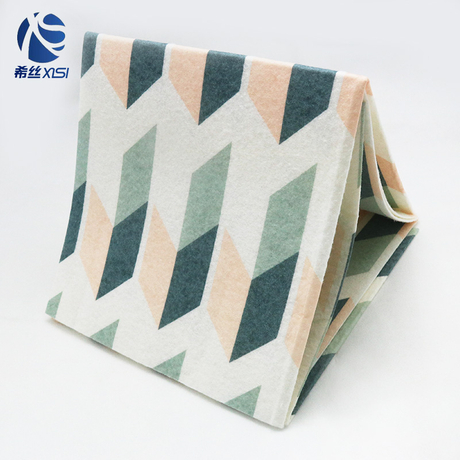 Packaged customized printed cleaning cloth