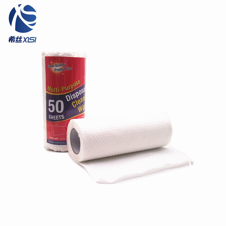 New custom disposable cleaning wipes paper roll for kitchen